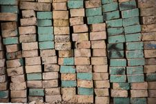 Free Pile Of Bricks Stock Image - 30404431