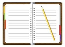 Free Organizer With Pencil Stock Photo - 30404720