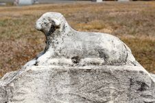 Free Stone Statue Of Lamb On Loved Ones Grave Stock Photography - 30405832