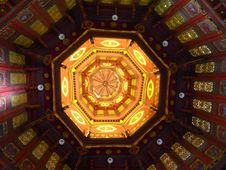 Free Ant Eyes View Of Pagoda Interior Stock Image - 30406271
