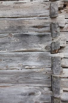 Background - A Fragment Of An Old Wooden House Stock Image