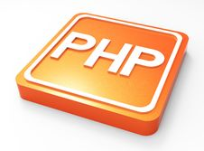 Free PHP Programming Button 3D Royalty Free Stock Photography - 30408747