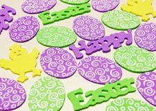 Free Happy Easter Pattern Stock Image - 30409911