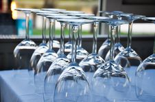 Free Empty Glasses Stock Image - 30411741