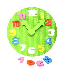 Free Colorful Foam Clockface With Detachable Parts Stock Photos - 30411993