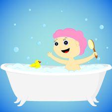 A Girl In The Bath Stock Photos