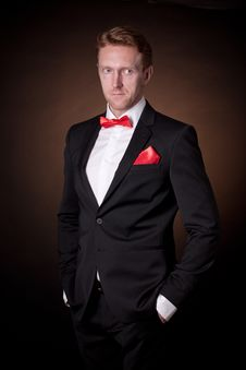 Free Elegant Man In A Tuxedo Stock Photos - 30413213