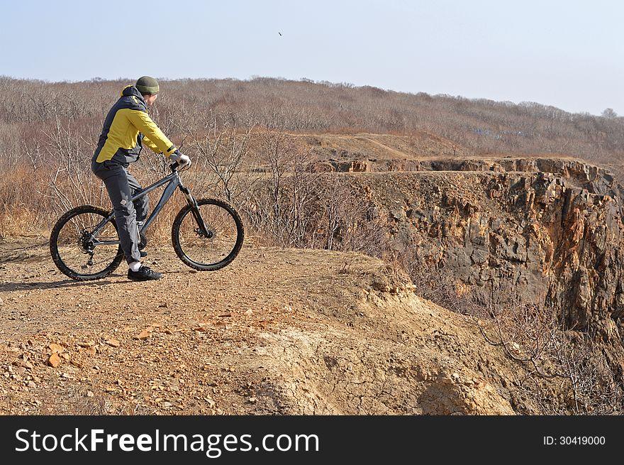 Rider on the rocks