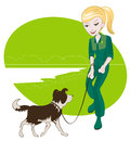 Free A Girl And Her Dog Stock Photography - 30424402