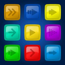 Free Vector Set Colorful Buttons. Royalty Free Stock Photo - 30420765