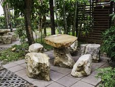 Free Rock Seat In Garden Stock Photos - 30421483