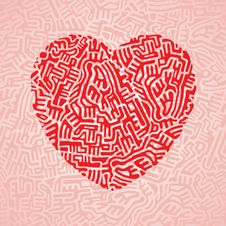 Free Labyrinth Heart Seamless Royalty Free Stock Image - 30422236