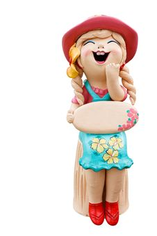 Free Happy Girl  Statue Stock Photography - 30422342