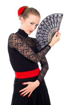 Free Portrait Of A Girl With A Fan Carmen Royalty Free Stock Photo - 30424205