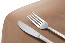 Free Knife And Fork Stock Photo - 30424240