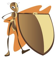 Free Ant With A Shield Stock Photo - 30424380