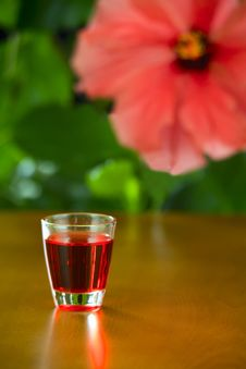 Free A Small Glass With Liquor Stock Photos - 30431293