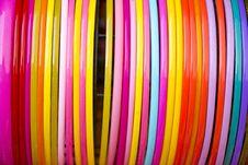 Free Colorful Plastic Bangle Royalty Free Stock Photo - 30432635