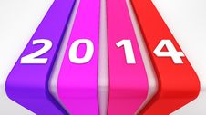 Free Colourful Ribbons 2014 Stock Photos - 30433783