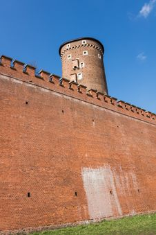 Ancient Fortifications Surrounding Wawel Royalty Free Stock Photos