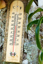 Free Wooden Celsius Fahrenheit Thermometer Stock Image - 30442701