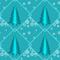 Free Seamless With Fir Trees Royalty Free Stock Photography - 30444697