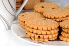 Biscuits On A Plate Royalty Free Stock Image