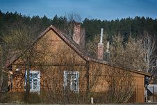 Old Wooden Country House Royalty Free Stock Image