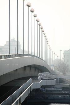 Street Lanterns On A Bridge Stock Images