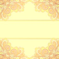 Free Invitation Card With Yellow Corners Royalty Free Stock Photos - 30444958