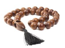 Free Wooden Rosary Beads Royalty Free Stock Photos - 30445668
