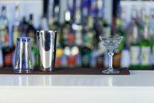 Free Night Club Glasses For Cocktail Preparation Stock Photography - 30446292