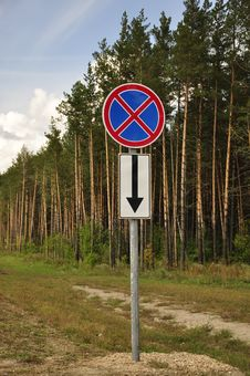 Free A Road Sign In A Forest. Stock Photos - 30448033