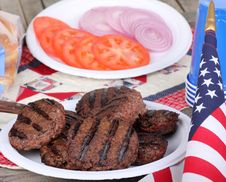 Free 4th Of July Burgers Royalty Free Stock Image - 30448166