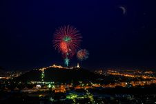 Free Nightscape Of Phetchaburi Stock Photo - 30450100