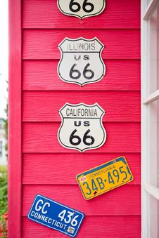 Free Route 66 Highway Signs Royalty Free Stock Photography - 30450737