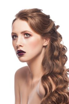 Free Woman With Bright Makeup Stock Photo - 30450970