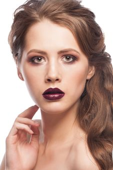 Free Woman With Bright Makeup Royalty Free Stock Photos - 30450978