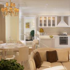 Free Modern Kitchen House Interior Stock Photo - 30454360
