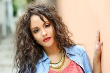 Free Attractive Mixed Woman In Urban Background Wearing Casual Clothe Royalty Free Stock Photo - 30454385
