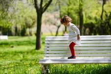 Free Little Girl Playing In The Park Royalty Free Stock Photography - 30457957