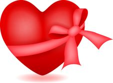 Free Heart With Ribbon Stock Photos - 30459983