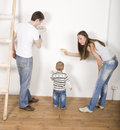 Free Parents With Their Son Near Ladder Stock Images - 30465794