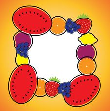 Free Seamless Background Pattern- Melon,orange,grapes,lemon & Plum Royalty Free Stock Photos - 30460048