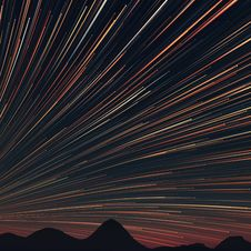 Free Star Trails And Far Rocks Stock Image - 30463311