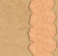 Free Vintage Background. Beautiful Rose In The Corner O Stock Photo - 30471330