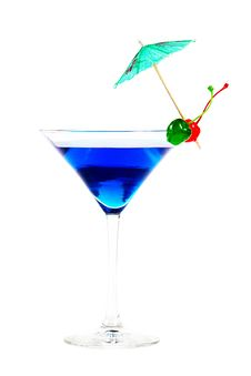 Free Blue Cocktail With Berries Stock Images - 30473654