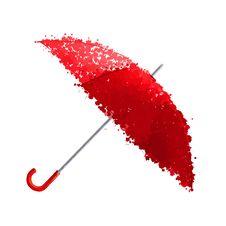 Free Wet Red Umbrella  Illustration Stock Image - 30475471