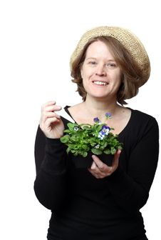 Free A Woman Gardener Royalty Free Stock Photography - 30475887