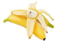 Free Bananas Isolated On White Background. Stock Images - 30479064